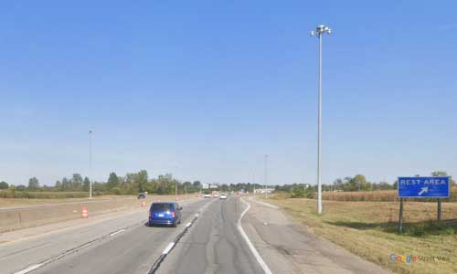 oh interstate 70 ohio i70 licking rest area mile marker 70 eastbound off ramp exit