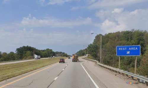 oh interstate 70 ohio i70 muskingum rest area mile marker 162 westbound off ramp exit