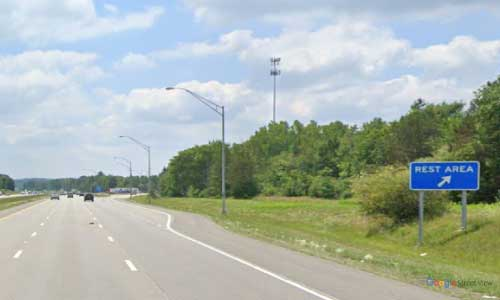 oh interstate 71 ohio i71 median rest area mile marker 223 southbound off ramp exit