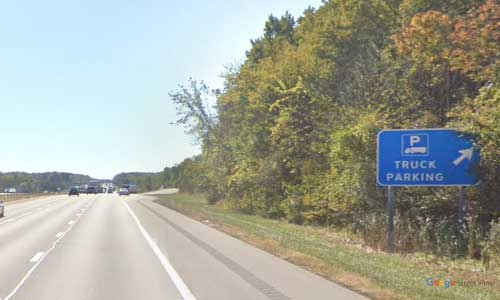 oh interstate 71 ohio i71 morrow truck parking mile marker 149 southbound off ramp exit