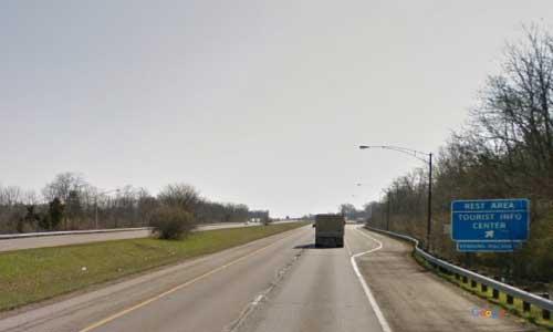 oh interstate 71 ohio i71 warren welcome center mile marker 33 northbound off ramp exit