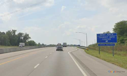 oh interstate 71 ohio i71 warren welcome center mile marker 33 southbound off ramp exit