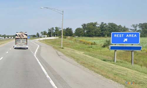 oh interstate 75 ohio i75 auglaize rest area mile marker 113 northbound off ramp exit