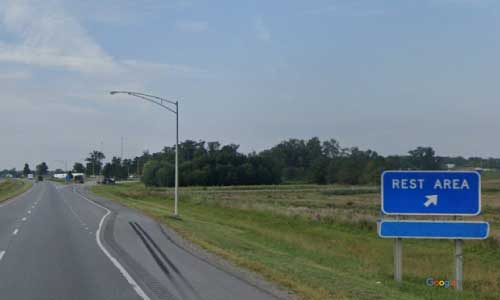 oh interstate 75 ohio i75 auglaize rest area mile marker 114 southbound off ramp exit