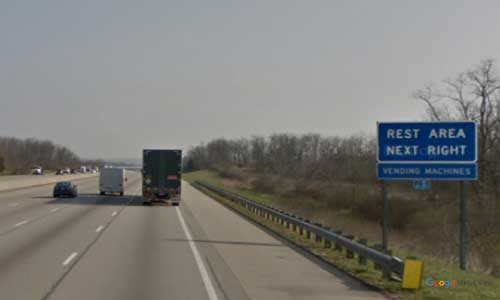 oh interstate 75 ohio i75 butler welcome center mile marker 27 northbound off ramp exit