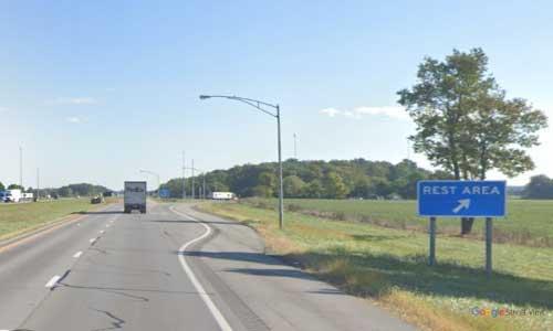 oh interstate 75 ohio i75 hancock rest area mile marker 152 northbound off ramp exit