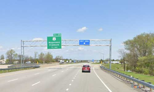 oh interstate 75 ohio i75 wood welcome center area mile marker 178 northbound off ramp exit