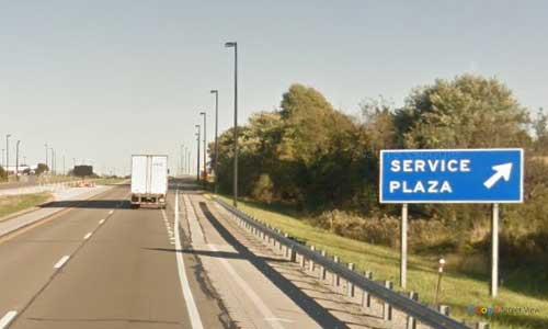 oh interstate 76 ohio i80 ohio turnpike glacier hills service plaza mile marker 237 eastbound off ramp exit