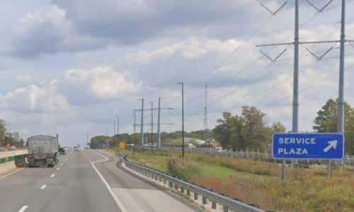 oh interstate 80 ohio i80 ohio turnpike wyandot service plaza mile marker 77 eastbound off ramp exit