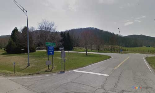 oh state route 7 ohio oh7 pike rest area mile marker 71 eastbound off ramp exit entrance