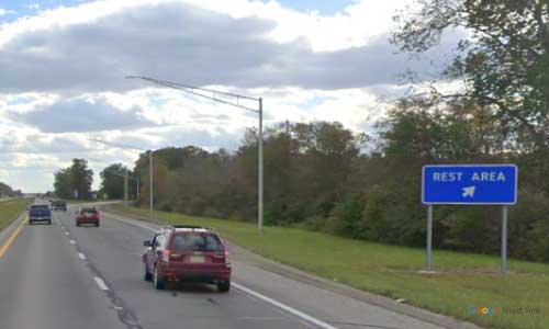 oh us route 23 ohio us23 marion rest area mile marker 130 southbound off ramp exit entrance