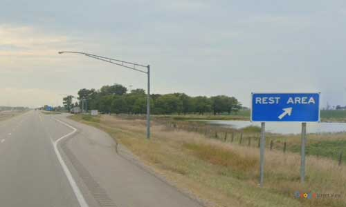 oh us route 30 ohio us30 van wert rest area mile marker 9 westbound off ramp exit entrance